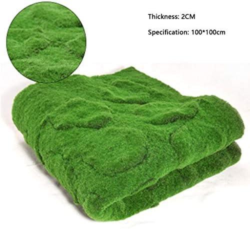 人工的な草ロール、人工的なコケ2cmの厚い家の装飾の切断そして接続 (Color : Green, Size : 2pack)
