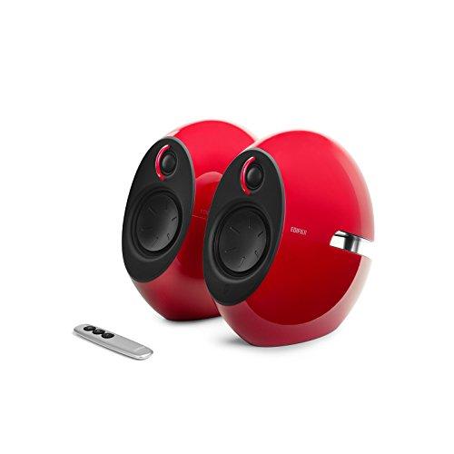 Edifier USA e25HD Luna Eclipse HD 2.0 Bluetooth Speakers with Digital Optical Input (Red)