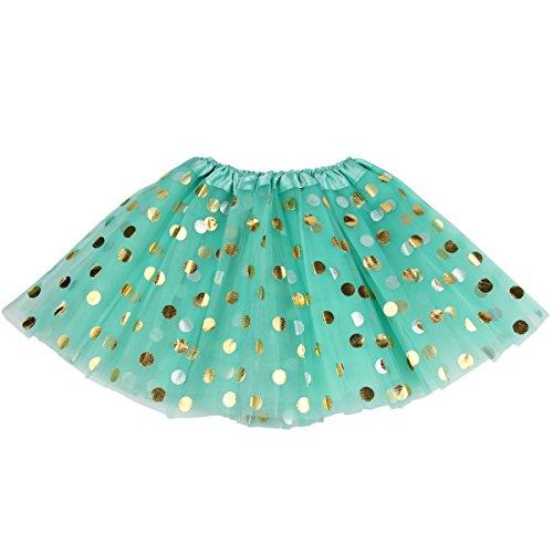 - Jastore Baby Girls' Polka Dot Tutu Glitter Ballet Triple Layer Soft Tulle Dance Skirt (0-2 Years, Blue)