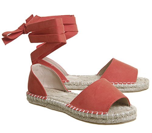 Office Summer Bay Espadrilles with Ties Coral G0067rZbhI