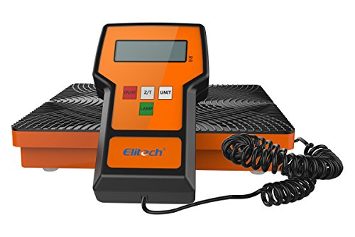 Elitech LMC-100A Digital Electronic Refrigerant Charging Recovery Scale with Wired Remote for HAVC Portable Case 220lbs/100kgs ()