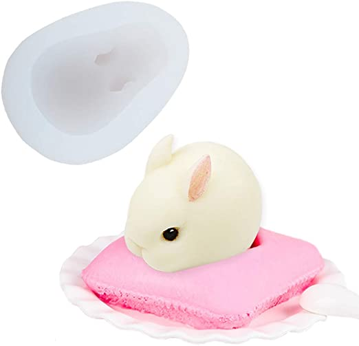 Cake Mould 6-Cavity 3D Rabbit Silicone DIY Fondant Decorating Tools Chocolate