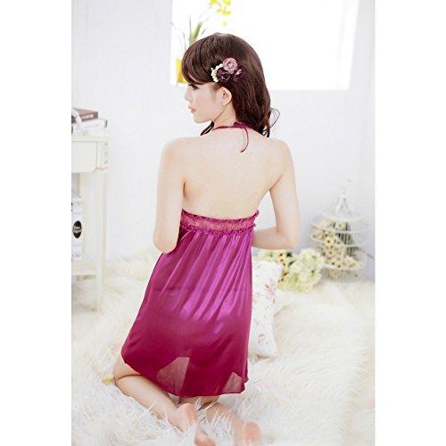 Ropa de noche del vestido del cord¨®n del cord¨®n atractivo de la ropa interior de la mu?eca de las mujeres Surker p¨²rpura