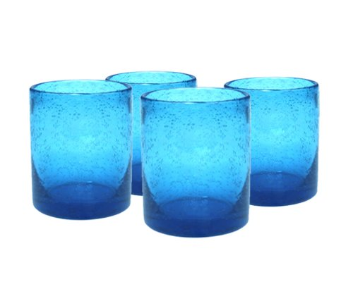 (Artland Iris Double Old Fashioned Glass (Set of 4), Turquoise)