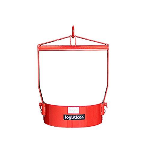 ドラム缶回転吊り具 荷重365kg スチール 赤 ドラム缶回転吊り具 ドラム缶反転吊り具 吊具 吊り具 回転 反転 ドラム吊り回転機 ドラム反転ハンガー ドラム缶 運搬 ハンガー ドラムリフター クレーン ホイスト リフト リフター drumtongm800 B01KSK9QKG
