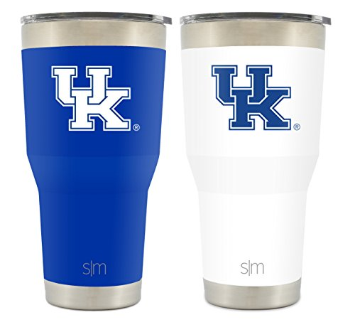Simple Modern University of Kentucky 30oz Cruiser Tumbler 2-Pack - Vacuum Insulated Stainless Steel Travel Mug - Wildcats Tailgating Hydro Cup College Flask
