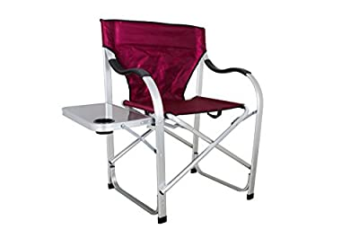 Stylish Camping Heavy Duty Folding Camping Director Chair with Side table