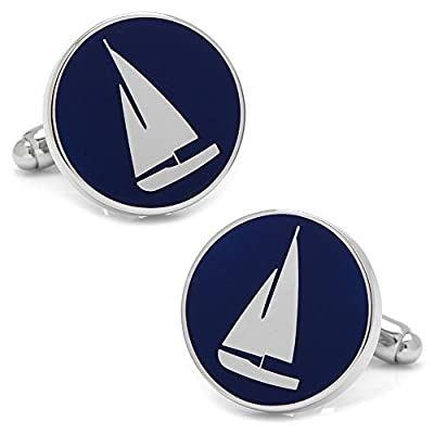 CUFFLINKS INC Sailboat Cufflinks (Blue)