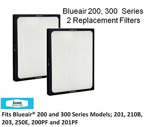 2-PACK of FILTERS for BlueAir 200/300 - Models; 201,210B, 203, 250E, 200PF, 201PF by Home Revolution