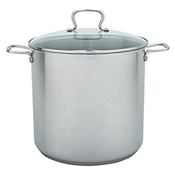 Range Kleen CW7104 Stainless Steel Stock Pot with Lid, 20-Quart