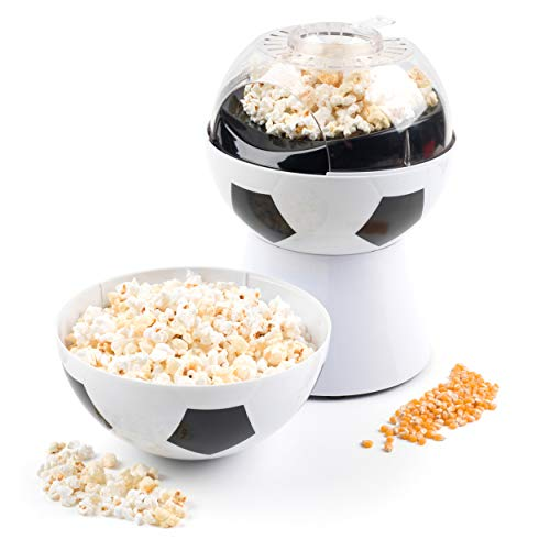 Giles and Posner EK2844 Football Popcorn Maker with Integrated Football Serving Bowl, 1200 W (Popper Football Popcorn)