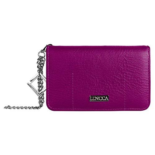 lencca-kymira-ii-vegan-leather-smartphone-clutch-wallet-purse-with-removable-chain-wrist-strap-plum-
