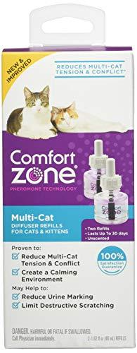 Comfort Zone 100527646 Multicat Diffuser Refills for Cats Kittens (2 Pack)