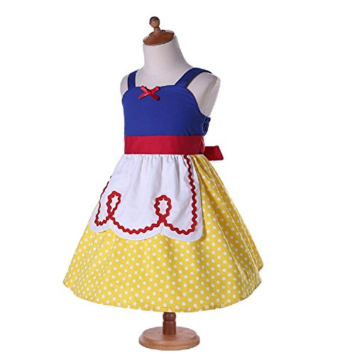 Pertongty Summer Toddler Girls Dress Up Princess Apron Dress Baby Cosplay Costume (6/7T, A) ()