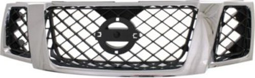 CPP Chrome Shell w/ Black Insert Grille Assembly for 2008-2012 Nissan Pathfinder