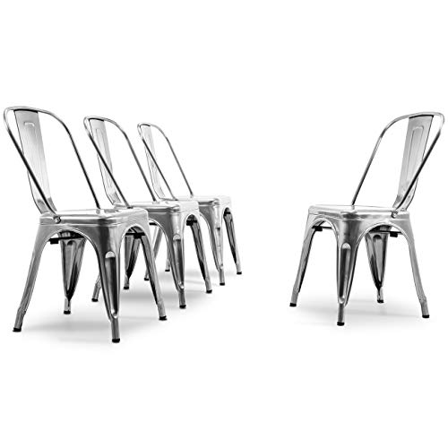 Belleze© Stackable Chic Dining Bistro Industrial Cafe S