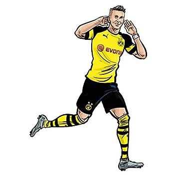 Wandsticker Bvb Comic Spieler Marco Reus Borussia Dormund
