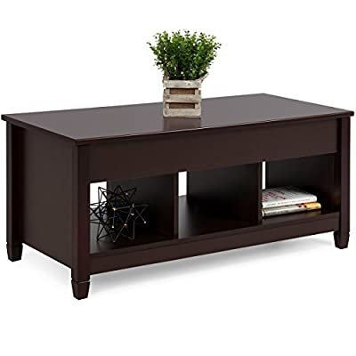 Best Choice Products Rectangular Lift Top Coffee Table w/Hidden Compartment And Lift Tabletop