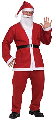 Fun World Men's Santa Pub Crawl Adult Costume, Multi Color, Standard (Santa Pub Crawl)
