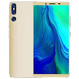 Veecome 5.72 inch Large Screen Smartphone P20plus 4G+32G Face ID Android Cellphone Golden U.S. Plug
