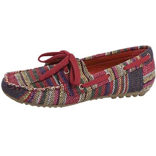 Top Moda Décontracté Confortable Chaussures Plates Staple52 Rouge, Noir Ou Beige Rouge