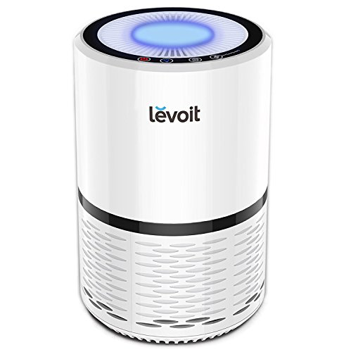 Levoit Air Purifier with True HEPA Filter, Odor Allergies Eliminator Cleaner for Pets Home Room, Smoke Dust Mold, Ideal for Smokers, 100% Ozone Free