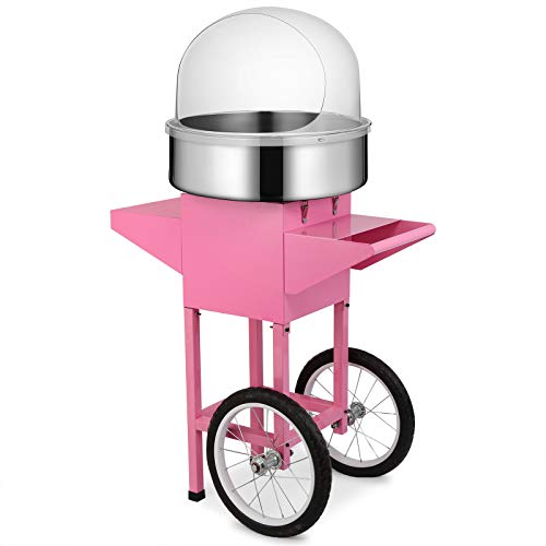 Happybuy Electric Candy Floss Maker 20.5 Inch Cotton Candy Machine 1030W for Various Parties (Cotton Candy Machine with Cart & Cover) by Happybuy (Image #2)
