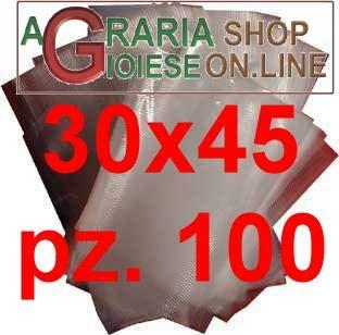 AG Buste Sacchetti per SOTTOVUOTO GOFFRATE CM.30X45 in Confezione da 100 PZ.