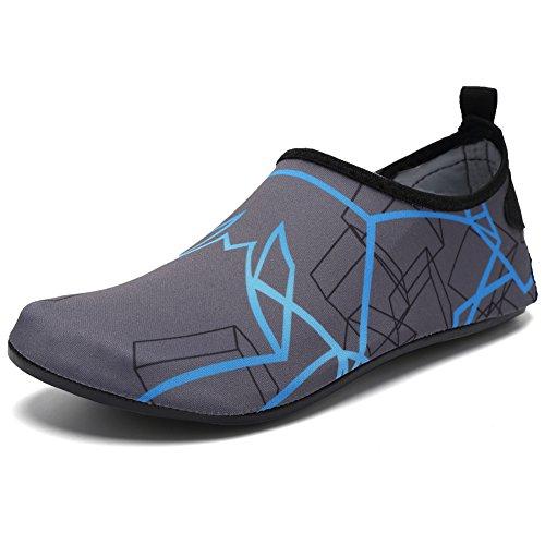 Cior Mannen En Vrouwen Barefoot Huid Aqua Schoenen Antislip Multifunctionele Water Schoenen Voor Strand Zwembad Surf Yoga Oefening H. Blauw 04