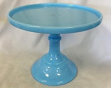 Amazon.com | Cake Plate Round Plain u0026 Simple Mosser Glass (9 IN Robin Egg Blue / Blue Milk) Cake Stands & Amazon.com | Cake Plate Round Plain u0026 Simple Mosser Glass (9 IN ...