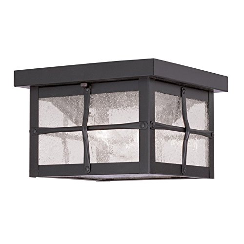 Livex Lighting Brighton Outdoor Ceiling Mount, Hammered Bronze Finish - 2688-07 ;(supply#: shop_freely_150371044472943 by Jonyandwater