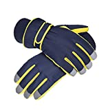Outdoor Ski Gloves - Men's Winter Warmth Thicken Riding Motorcycle Waterproof Windproof Cold Biker Cotton Gloves Can Play Snow Gloves