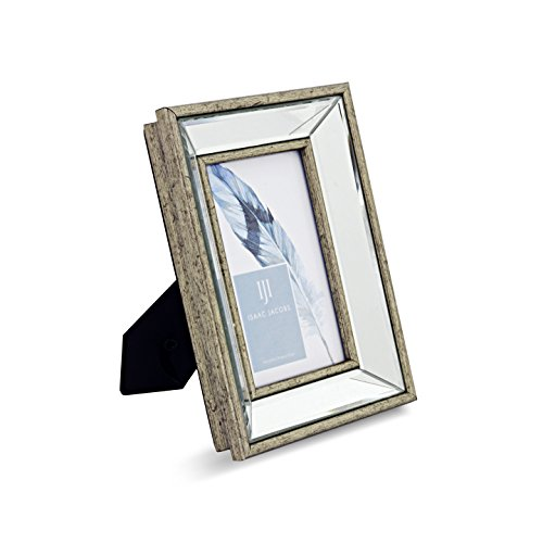 Isaac Jacobs Beveled Mirror Frame (4x6, - Frame Mirrors Silver