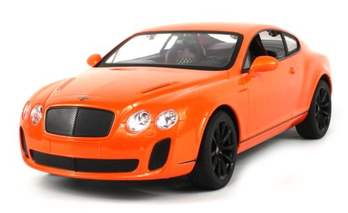 Velocity Toys Licensed Bentley Continental GT Supersports Electric RC Car 1:14 Scale Ready to Run RTR, Detailed Interior & Exterior (Colors May Vary)