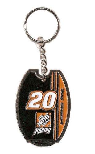 (#20 Tony Stewart Authentic NASCAR Collector's Chrome Keychain)