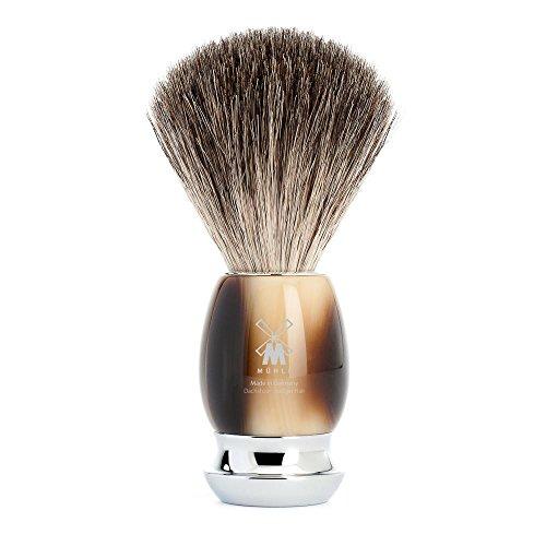 MÜHLE VIVO Brown Horn Resin Pure Badger Shaving Brush