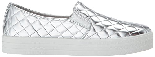 Double Skechers up Duvet Silber Silver Slip Damen on Sneaker wwx1qO5