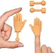 Daily Portable Tiny Hands (High Five Mini Pack) Left & Right Hand with Bonus Holding Sticks Incl