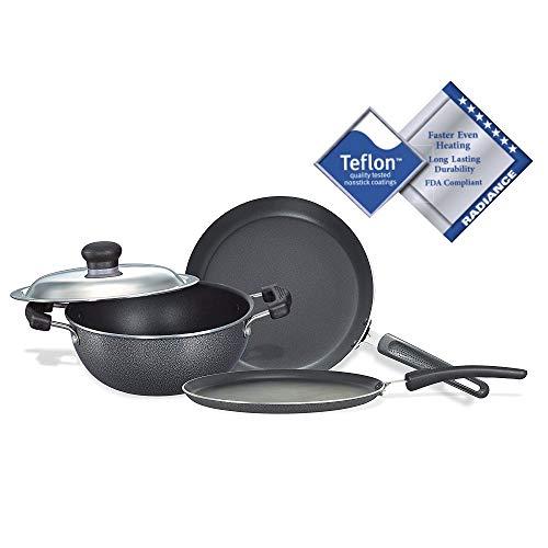 Non Stick Kitchen Set With Price: Compare Prestige Omega Deluxe Induction Base Non-Stick