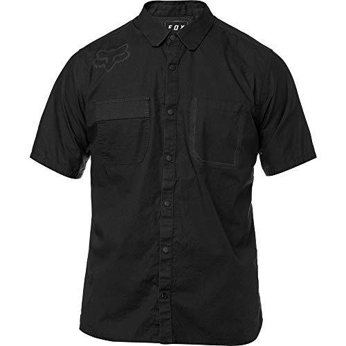 Fox Racing Casual Mens Clothing - Fox Racing Men's Redplate Flexair Work S/S Shirts,2X-Large,Black