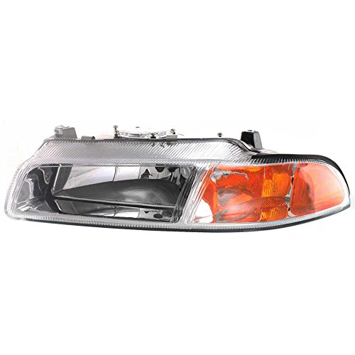 Headlight for STRATUS 95-00 LH Assembly Halogen w/Improved Pattern Beam w/Bulb(s) Driver Side