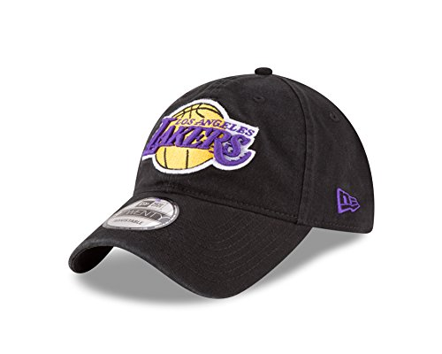 NBA Los Angeles Lakers Core Classic 9Twenty Adjustable Cap, Black, One Size