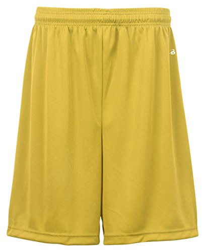 Badger Men's Athletic Microbial Moisture Performance Short, X-Small, Gold