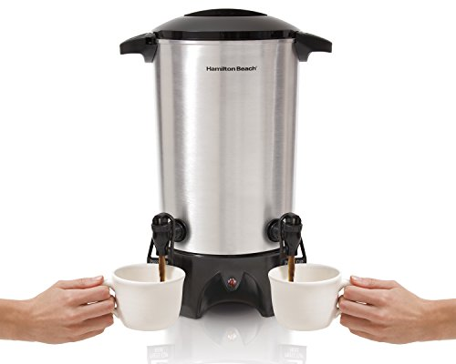 Hamilton Beach Dual-Spout Coffee Urn, 45 Cups, Silver (40518), ()