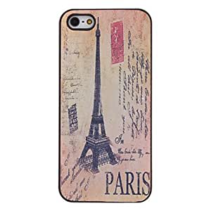 Retro Eiffel Tower Pattern PC Hard Case with Interior Matte for iPhone 5/5S