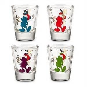 Disney Santa Mickey Shot Glass Set of 4