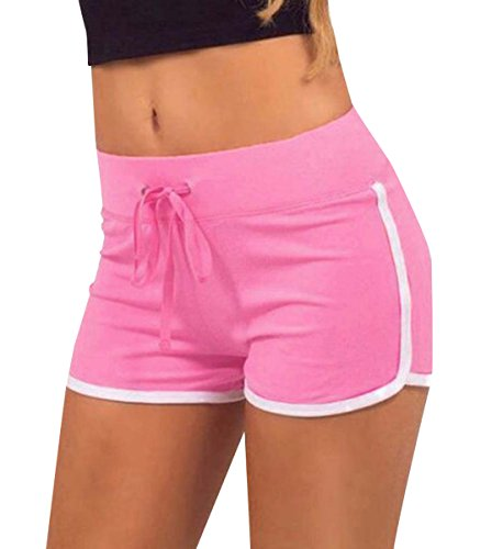 Shorts Jogging Coulisse Fitness Corto Moda Traspirante Hot con Assorbimento Casual Pants Estivo Yoga Pantaloni Donna Sudore del da Rosa Monika Pantaloncini Patchwork fwqn0XHSR