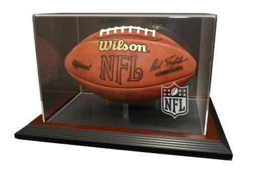 Mahogany Zenith Display Case (NFL Logo Gear Zenith Football Display - Mahogany)