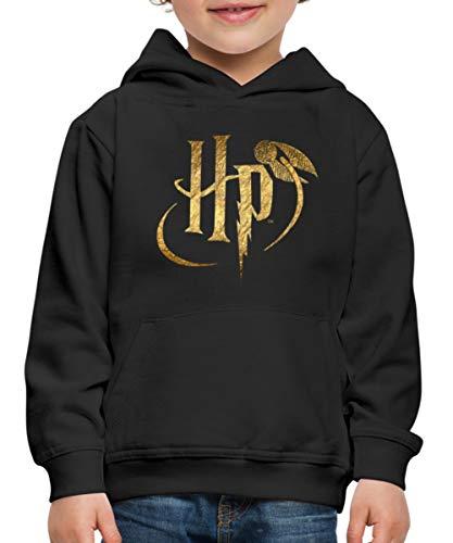 Spreadshirt Harry Potter Logo HP Kinderen trui Premium met capuchon