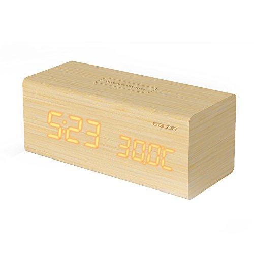 BALDR Wooden Alarm Clock Design product image